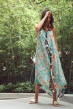 Maxi Tassel Dress in Flowing Florals Print | cover up sun dress - Pool to Party - Subtle Luxury