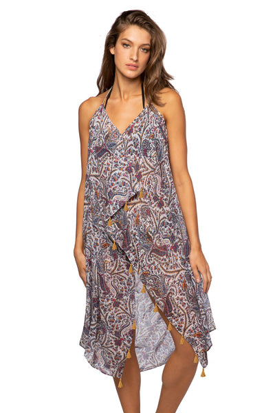 Maxi Tassel Dress in Yonder Mountain