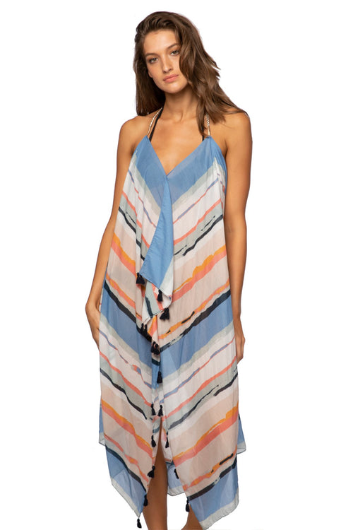 Maxi Tassel Dress in Dripping in Color - Subtle Luxury