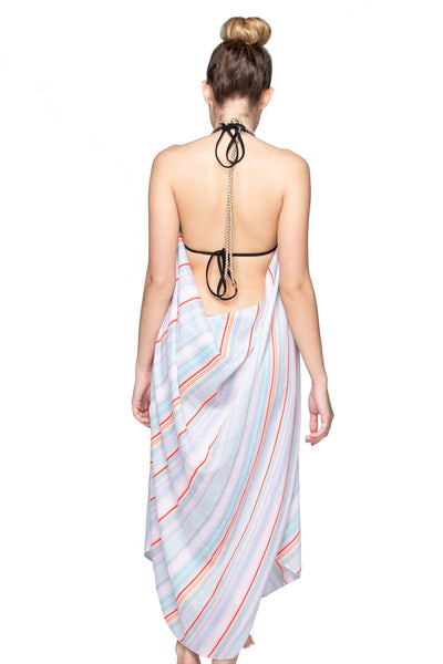 Maxi Tassel Dress in Salt Water Taffy Print | cover up sun dress - Pool to Party - Subtle Luxury