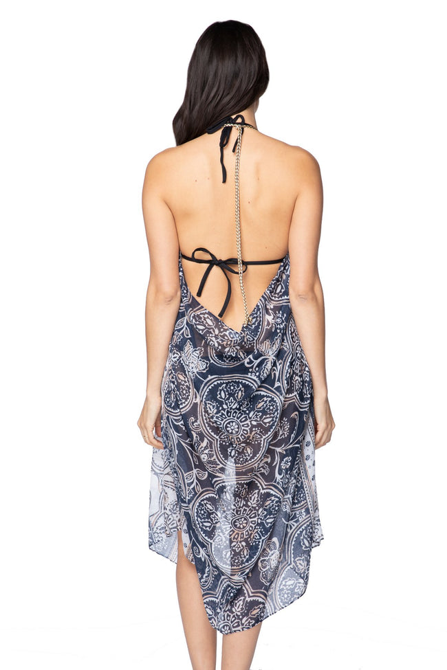 Maxi Tassel Dress in Floral Temple Print | cover up sun dress - Pool to Party - Subtle Luxury