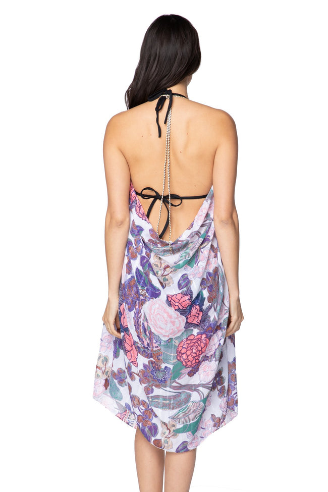 Maxi Tassel Dress in Enchanting Blooms Print | cover up sun dress - Pool to Party - Subtle Luxury