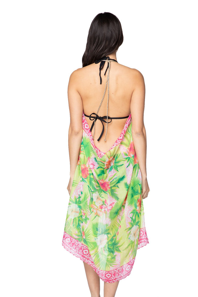 Maxi Tassel Dress in Hawaiian Paradise - Subtle Luxury