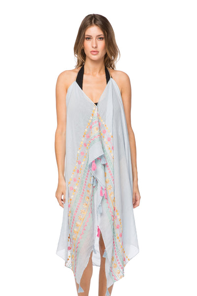 Maxi Tassel Dress in Spring Flowers - Subtle Luxury