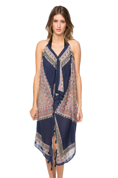 Maxi Tassel Dress in Shakedown Street Print | cover up sun dress - Pool to Party - Subtle Luxury