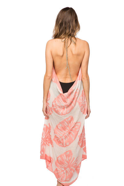 Maxi Tassel Dress in The Tropics Print | cover up sun dress - Pool to Party - Subtle Luxury
