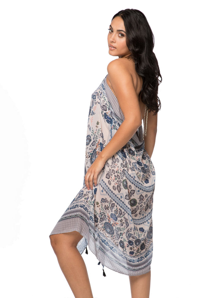 Maxi Tassel Dress in Antique Haven Print | cover up sun dress - Pool to Party - Subtle Luxury
