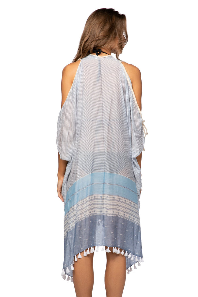 Open Shoulder Dress in Morning Glory