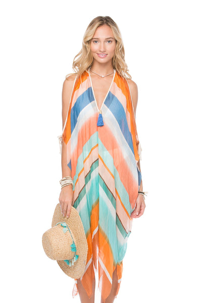 Open Shoulder Dress in Bahama Boat