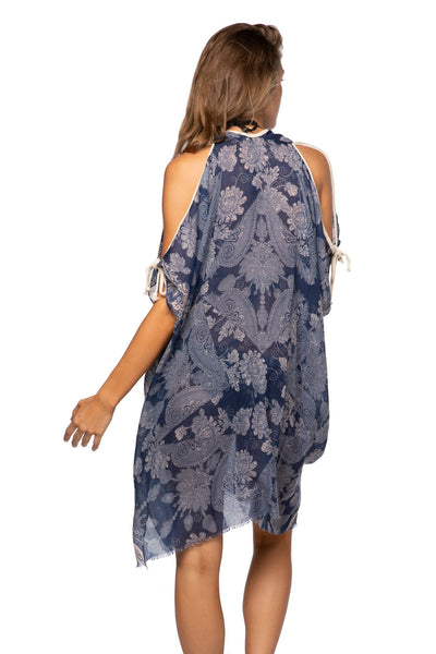 Open Shoulder Dress in Bandana Baby - Subtle Luxury