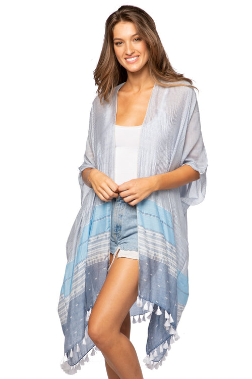 Morning Glory Kimono Wrap - Subtle Luxury