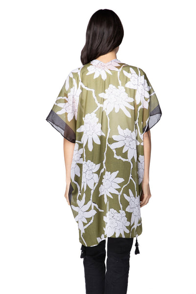 On the Vine Kimono Wrap - Subtle Luxury