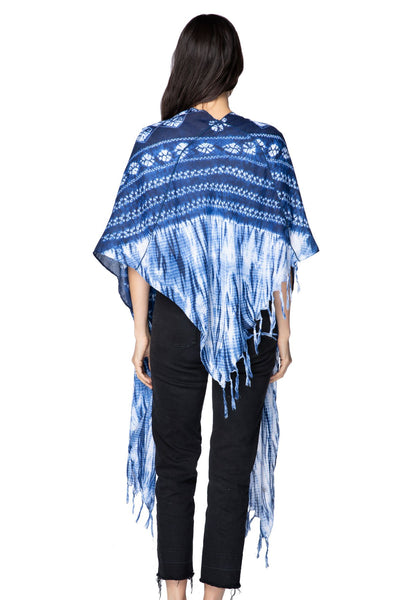 Indigo Diamond Seaside Serape - Subtle Luxury