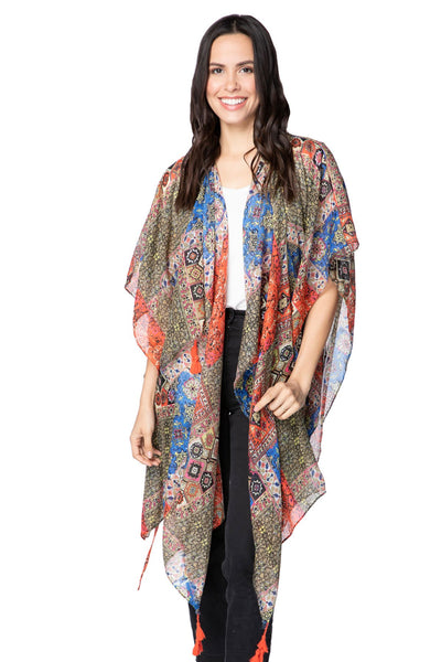 The Cabana Kimono in Summer Bazaar - Subtle Luxury
