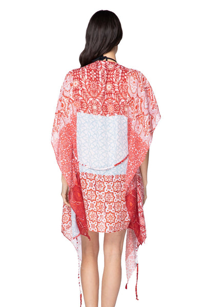 The Cabana Kimono in Marisa Patches - Subtle Luxury