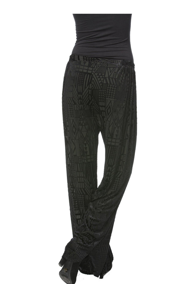 Live Easy Tie Pant in Geometric Midnight - Subtle Luxury