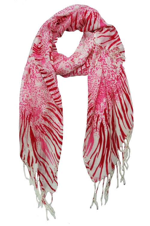 Go Pink Gradient Animal Print Scarf in Pink