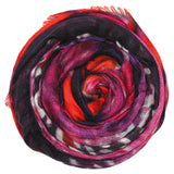 Modal/Cashmere Digitally Purple Rain Wow Scarf in Purple - Subtle Luxury