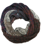 Hand Knit Multi Patch Infinity Scarf in Multi by Spun - Subtle Luxury