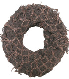 Hand Knit 2-Way Net Infinity Scarf in Tan by Spun