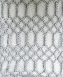 Hand Knit 2-Way Net Infinity Scarf in White by Spun - Subtle Luxury