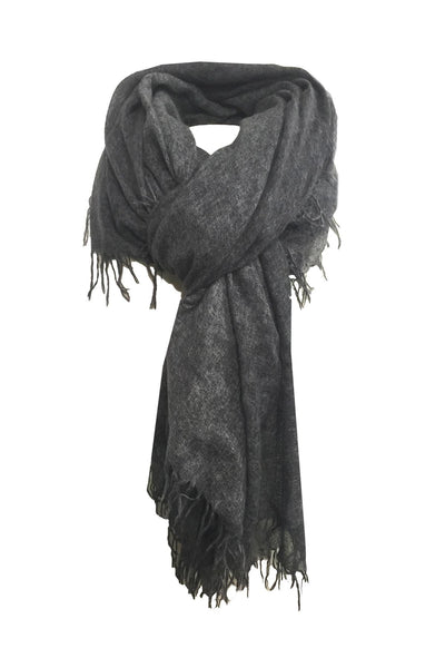 100% Cashmere Luxury Scarf, New York Parkway print in Charcoal - Subtle Luxury