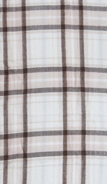 Forever Plaid Blanket Wrap in Lt. Pink