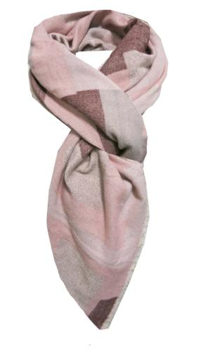 Pretty in Patchwork Blanket Wrap in Pink - Subtle Luxury