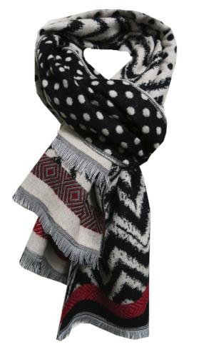 Polka Dotty Blanket Wrap in Black