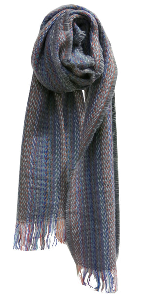 Colored Stitches Scarf/Wrap in Ivory - Spun by Subtle Luxury
