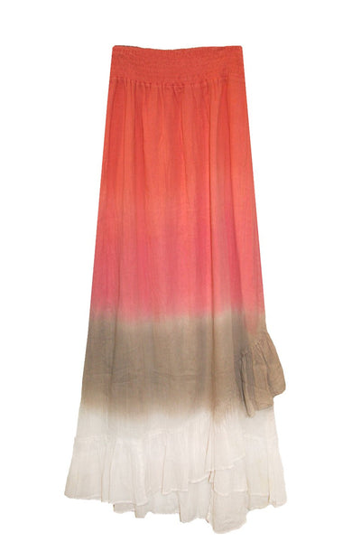 Cotton Dip Dye Tango Skirt - Subtle Luxury