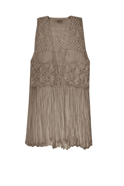 Macrame Vest - Subtle Luxury