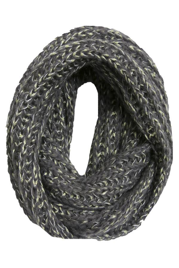 Shimmer Knit Infinity Scarf in Slate by Spun - Subtle Luxury