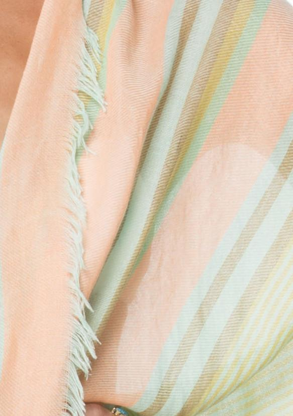 Beachy Stripe Kimono Wrap in Mint - Subtle Luxury