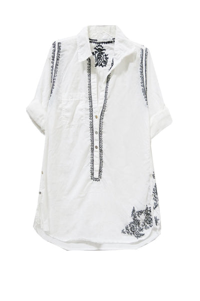 Boyfriend Shirt in White/Noir - Subtle Luxury