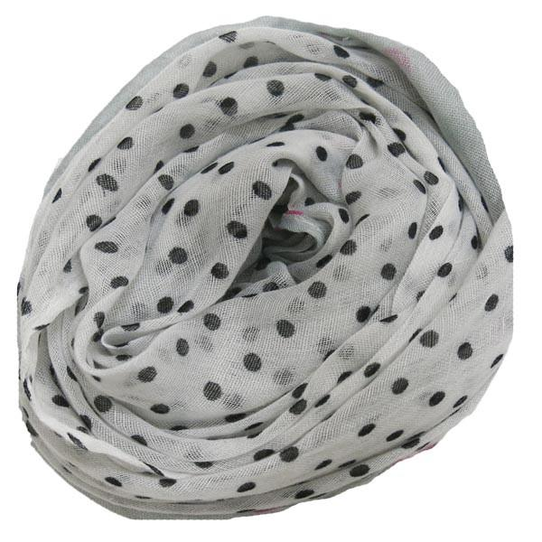 Lots O' Dots Printed Scarf in Grey - Subtle Luxury