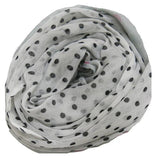 Lots O' Dots Printed Scarf in Grey