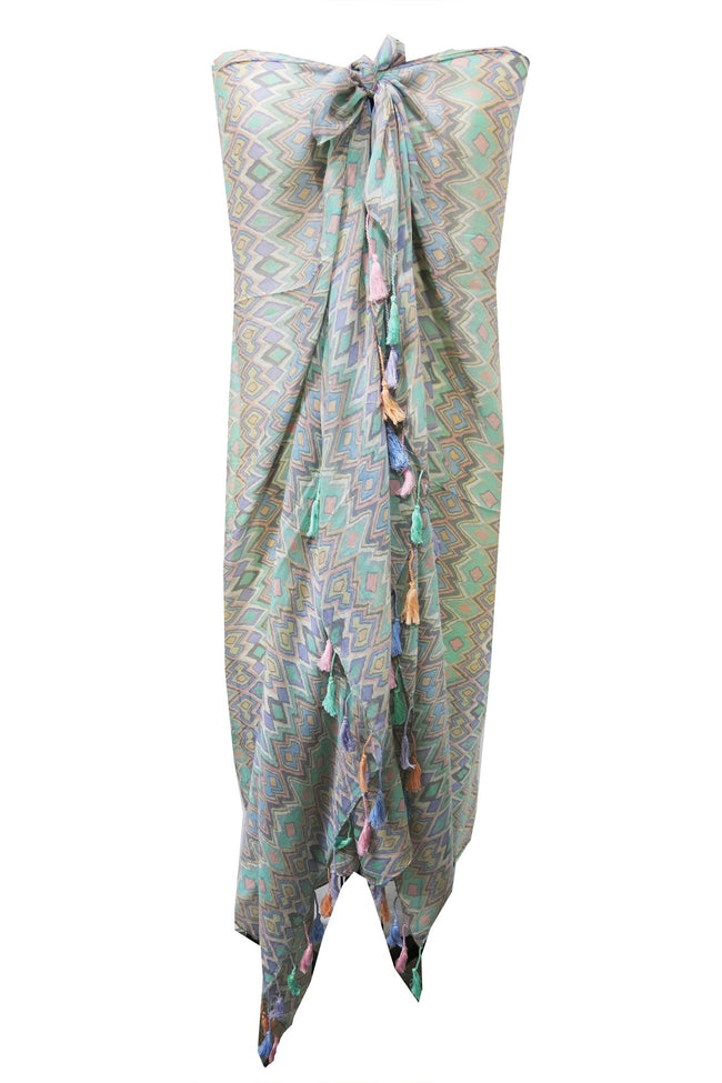 Maxi Tassel Dress in Always Fiesta Print | cover up sun dress - Pool to Party - Subtle Luxury