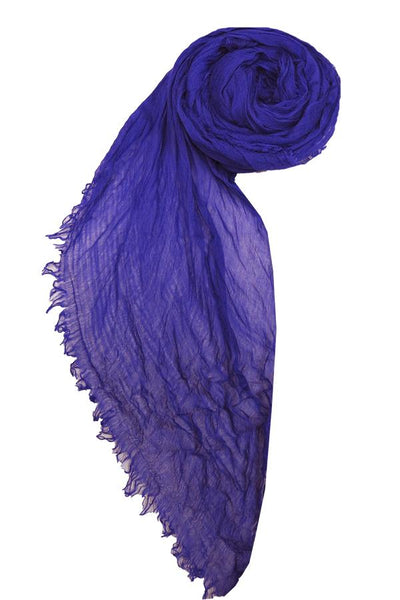 Luxe Solid Scarf in Grape