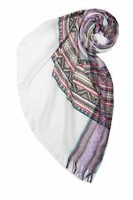 Plaid Dreams Printed Scarf in White