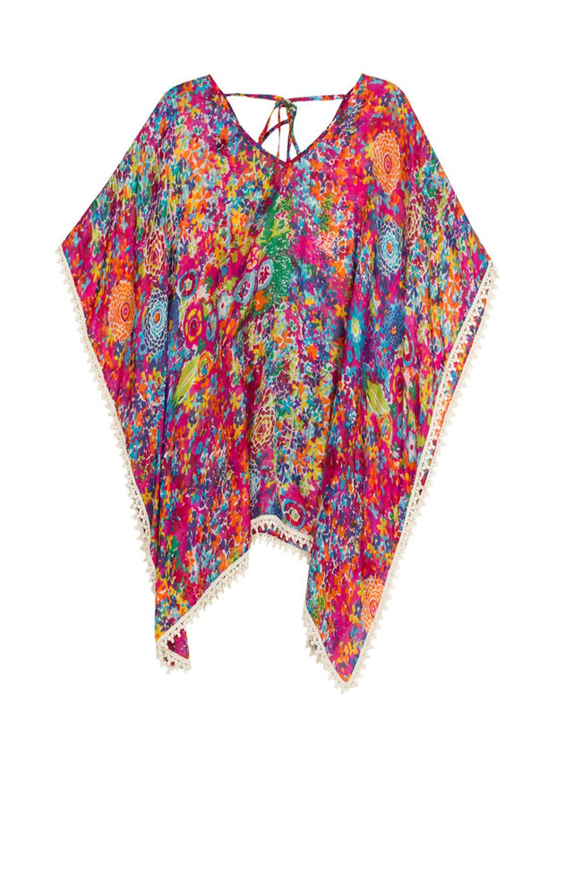 Silk V-Neck Pool Kaftan