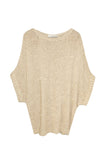 Hand Knit Tape Yarn Hand Knit Sweater in Nude