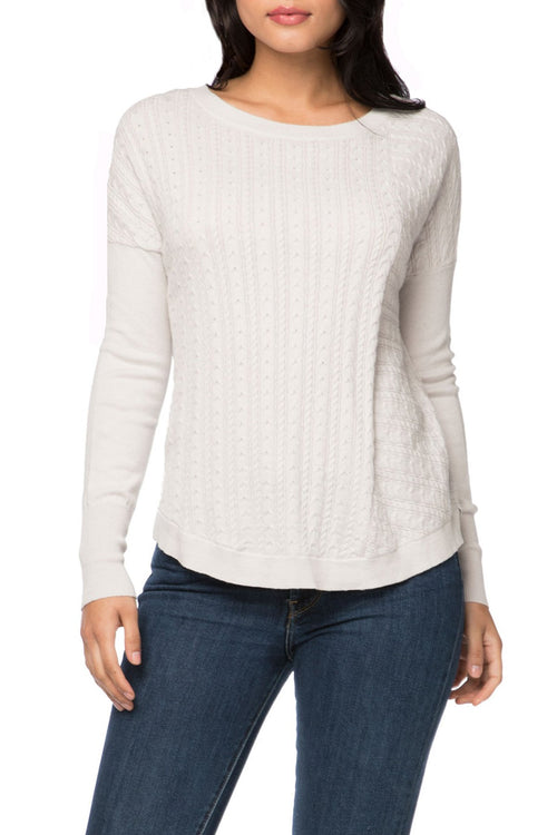 Crystal Pullover in Cotton Cashmere - Subtle Luxury