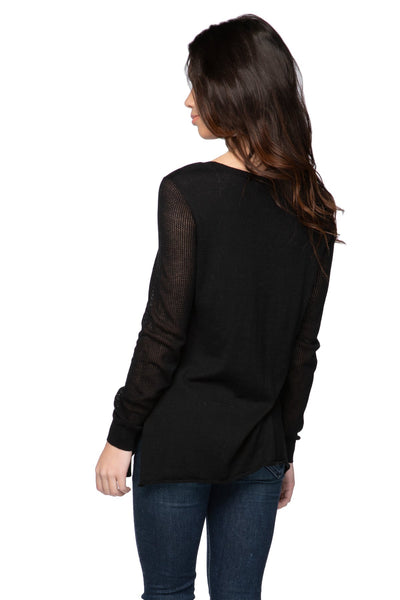 Annie Crew Neck in Black