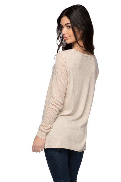 Annie Crew Neck in Oat - Subtle Luxury