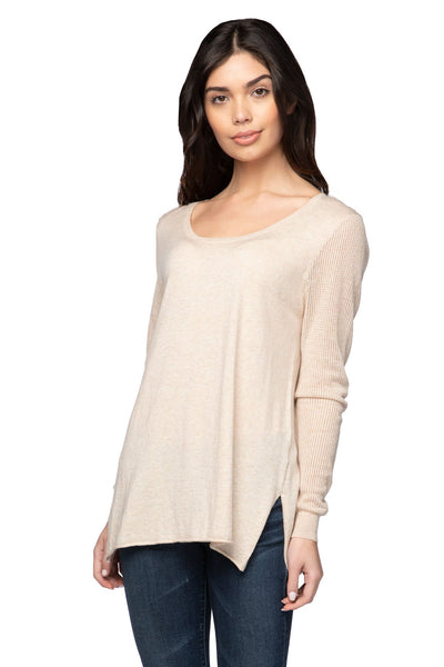 Annie Crew Neck in Oats - Subtle Luxury