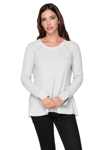 Stephanie Textured Crew in Surf - Subtle Luxury