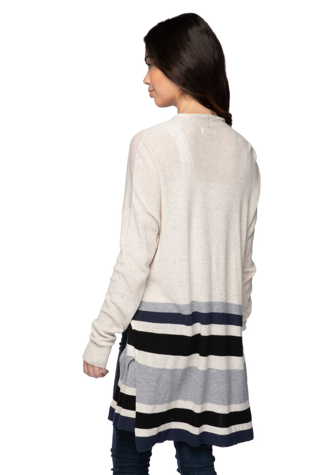 Kylie Cardigan in Surf Stripe Combo - Subtle Luxury