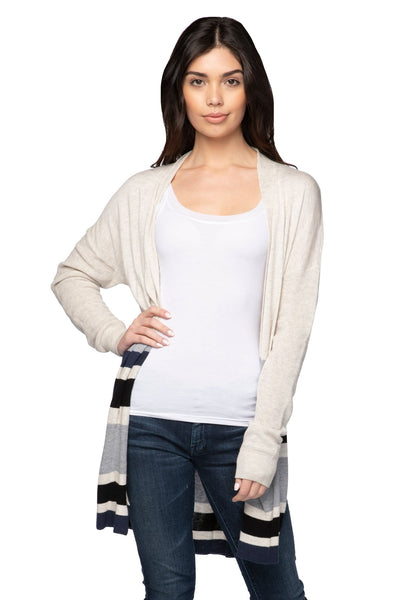 Kylie Cardigan in Surf Combo - Subtle Luxury