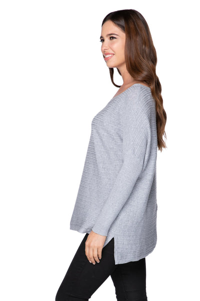 Jess Drop Shoulder Sweater in Smoke - Subtle Luxury